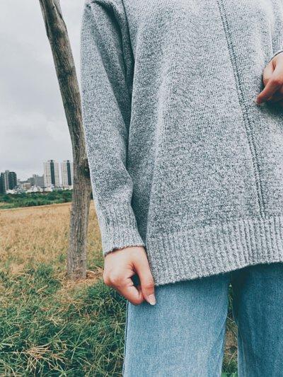 MIT寬版針織毛衣