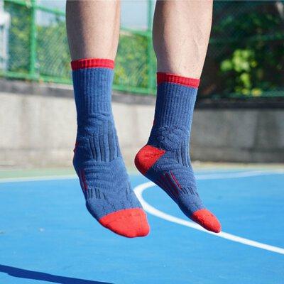 OH9黑狗運動襪競技籃球襪紅藍1