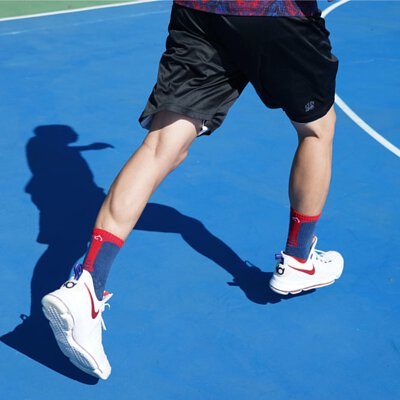 OH9黑狗運動襪競技籃球襪紅藍2