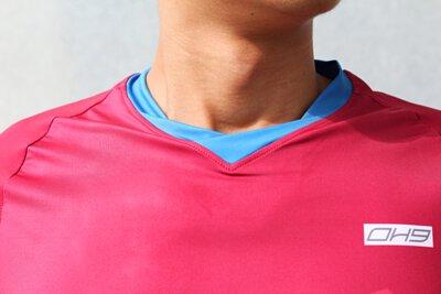 TOP-HX昇華運動短袖上衣領口圖示