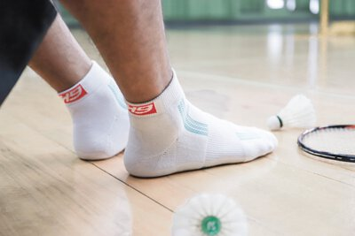 OH9黑狗運動裝備運動襪 耐磨羽球襪