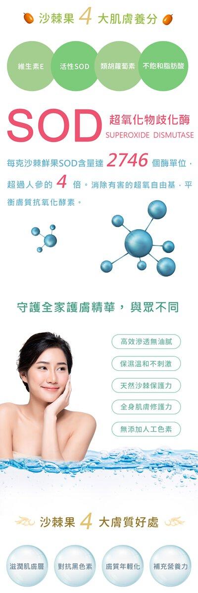 頂級沙棘護理凝膠4大肌膚養分