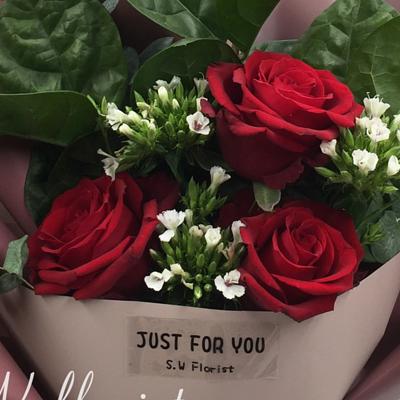 小薇花藝玫瑰花束推薦情人節禮物情人節花束
