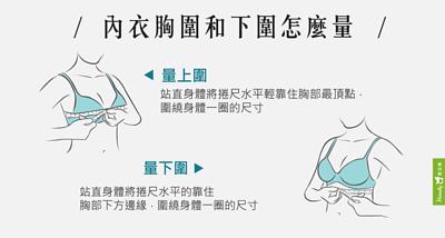 Heimelig直立棉機能環保內衣-內衣胸圍和下圍怎麼量