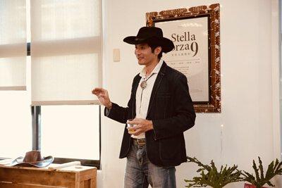 男人, 牛仔, 酒杯, 皮革, 演講