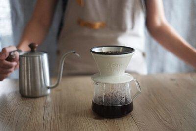 KINTO SLOW COFFEE STYLE SCS 咖啡下壺 + 陶瓷濾杯+金屬濾網(1-2人份)