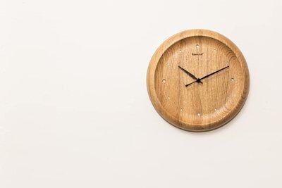 fünwood 方木 日晷掛鐘