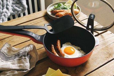 日本 Remy pan plus 多功能頂級不沾鍋 24cm(三色 含蓋)可加購配件