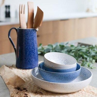 Denby 藍色藝匠 礦物調釉彩四色餐碗組