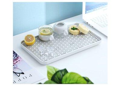 HAOWU 日系簡約風格 雙層瀝水置物盤/托盤/水果盤/茶盤