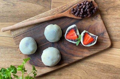 草莓, 糯米粉, 黑豆, 食譜, 家常菜, 煮餸, 麻糬, 甜品, 大福, 糯米, 丹波黑豆