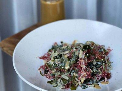 沙律,海藻沙律,沙律菜,自家製,做法,食譜, 家常菜, 煮餸,食療,製作方法,素食 食譜,芝麻醬,美乃滋