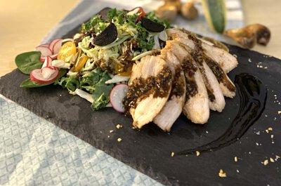黑蒜沙拉醬,黑蒜,蒜頭,沙律菜,自家製,做法,食譜, 家常菜, 煮餸,食療,製作方法,素食食譜