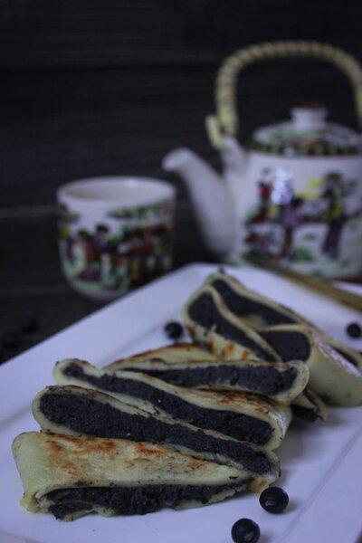 黑豆沙鍋餅,黑豆,沙鍋餅,食譜,吉士粉,自家製,diy,做法,豆沙,甜品,煎餅,pancake 食譜,鬆餅食譜