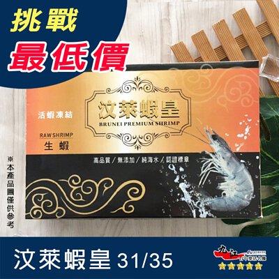 【九江】汶萊蝦皇31/35 (500g)