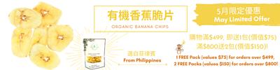 Organic Banana Chips有機香蕉脆片