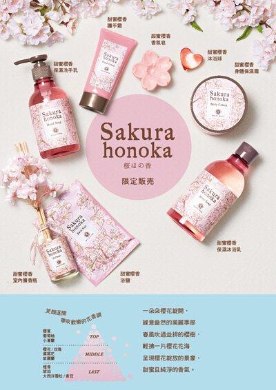 甜蜜櫻香系列香調