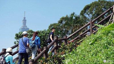 登上秘密小丘,鳥瞰台北城市天際線。