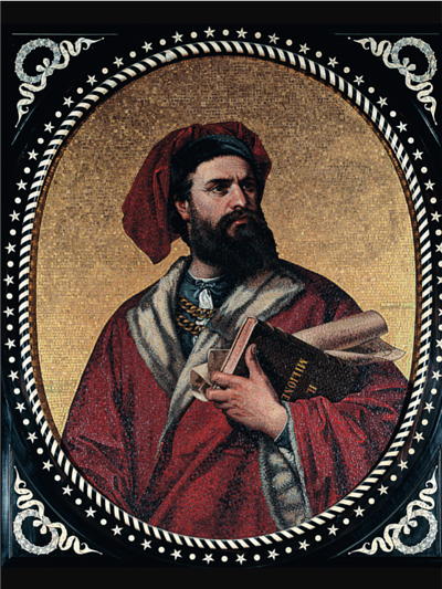 the famous Venetian merchant who, with his father Niccolò and uncle Matteo set off for China along the Silk Road.