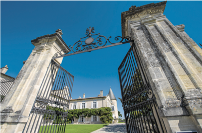 he grand metal gate of Château Lafite (Photo by Francois Poincet)