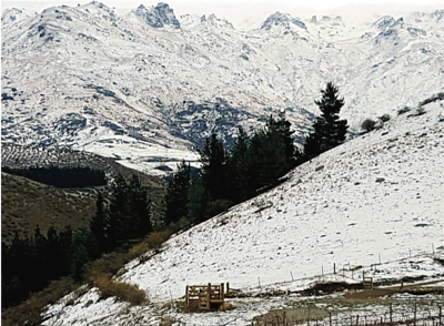 Central Otago is dominated by northeast mountain ranges