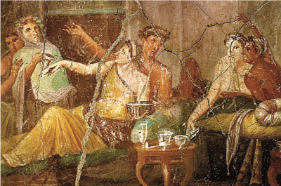 'The House of the Chaste Lovers' in Pompei: it is a home-workshop