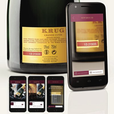 each bottle bears a six-digit code on the back label, allowing users to find out more