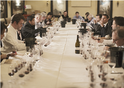 the Blaufränkisch tasting organised by Hong Kong Wine Society was taking place.