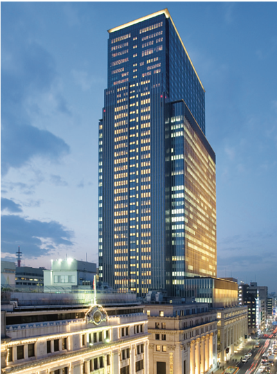 the Mandarin Oriental Tokyo is a luxury establishment located in the Nihonbashi Mitsui Tower