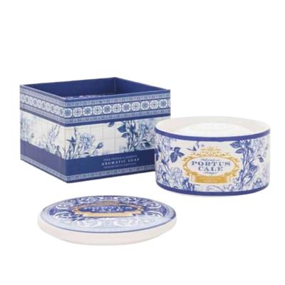 Castelbel Portus Cale Soap Gold & Blue in Ceramic Container