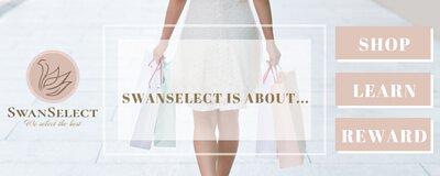 SwanSelect.com about SHOP, LEARN, REWARD