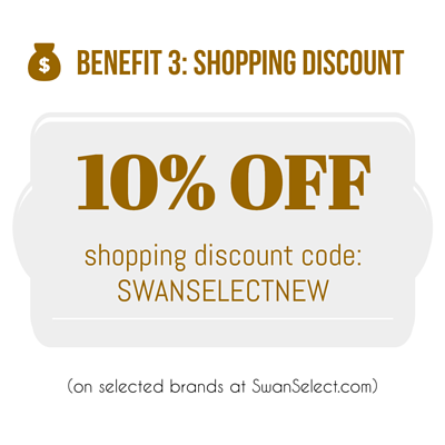 SwanSelect New Sign Up 10% coupon code