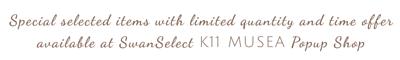 SwanSelect K11 Musea PopUp Store, castelbel, aqua Pro+Tech, wedgwood, nikka whisky, lobmeyr, lifestyle, discount,sales