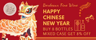chinese new year Bordeaux wine 8 bottles mixed case promotion