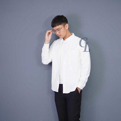GL襯衫白色牛津襯衫