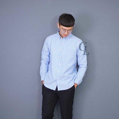 GL襯衫淺藍色牛津襯衫