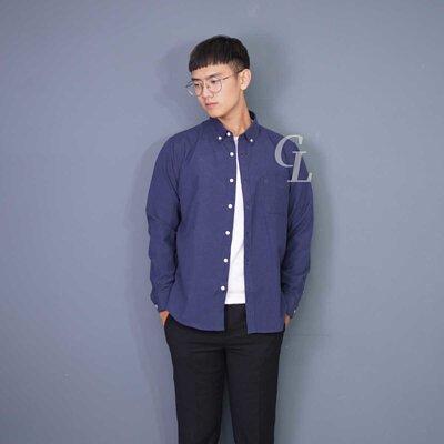 GL襯衫藍色襯衫約會穿搭