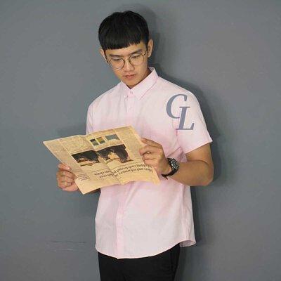 GL襯衫粉紅色襯衫約會穿搭