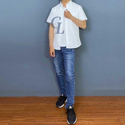 GL襯衫白色短牛津襯衫夏日穿搭