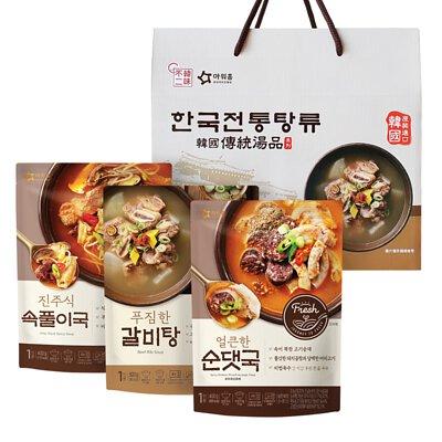 道地韓國進口湯品3入禮盒~年節禮盒首選