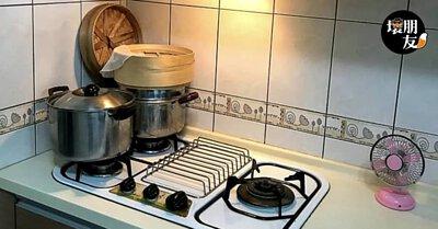 將小古復古風扇擺在廚房,讓你進廚房不再像洗三溫暖