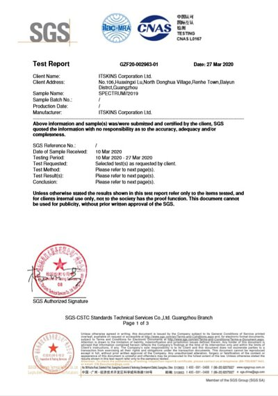 ITSKINS 防摔保護殼SGS抗菌測試報告_P1