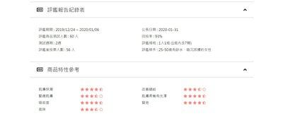 評鑑-報告-紀錄-記錄-產品特性-商品特性