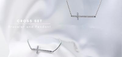 cross pendant and bracelet