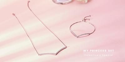 princess pendant and bracelet