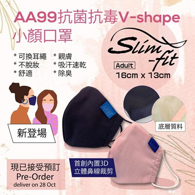 AA99 slim fit reusable mask