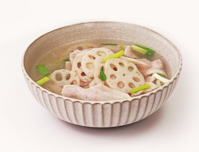秋藕肉片湯