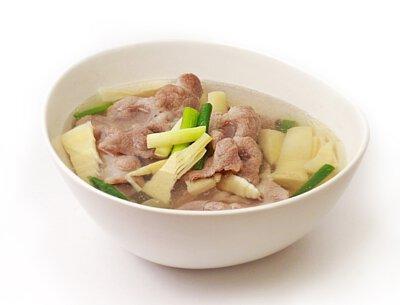 綠筍肉片湯