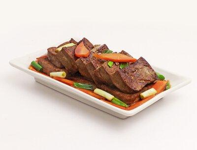 蔥燒黑豆腐