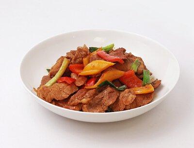 彩椒梅花肉